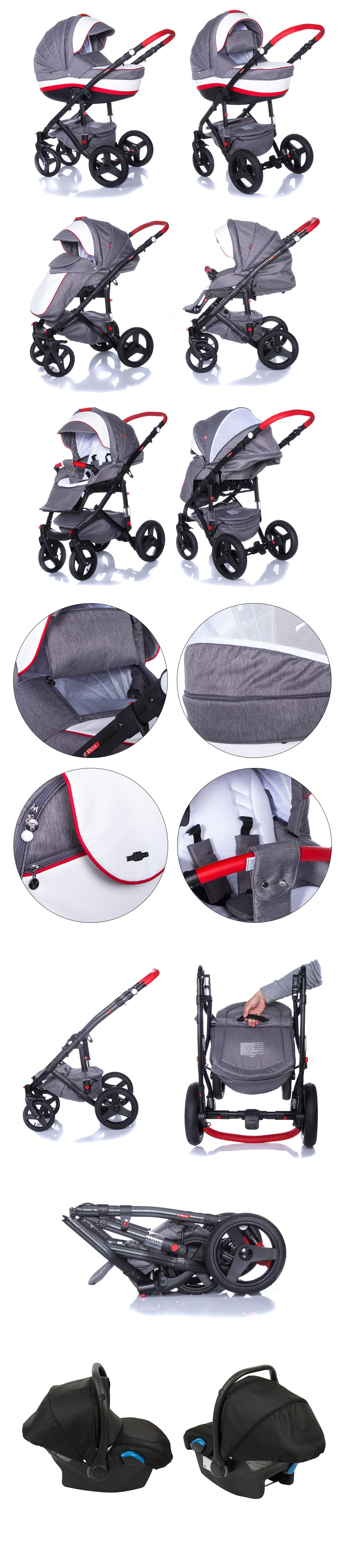Baby Pram Pushchair Stroller Buggy Travel System 2in1 3in1