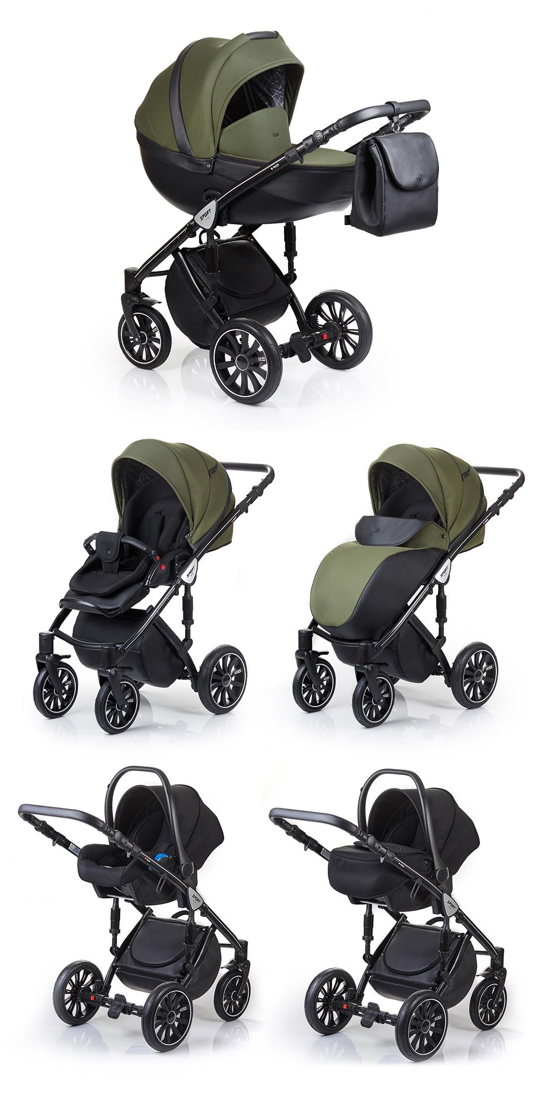 baby pram pushchair stroller system 3in1 anex sport 2017. Black Bedroom Furniture Sets. Home Design Ideas